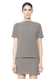 T by ALEXANDER WANG STRIPED BOATNECK TOP TOP Adult 8_n_e