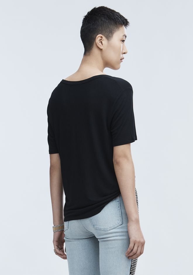 T by ALEXANDER WANG CROPPED TEE WITH POCKET  TOP Adult 12_n_d