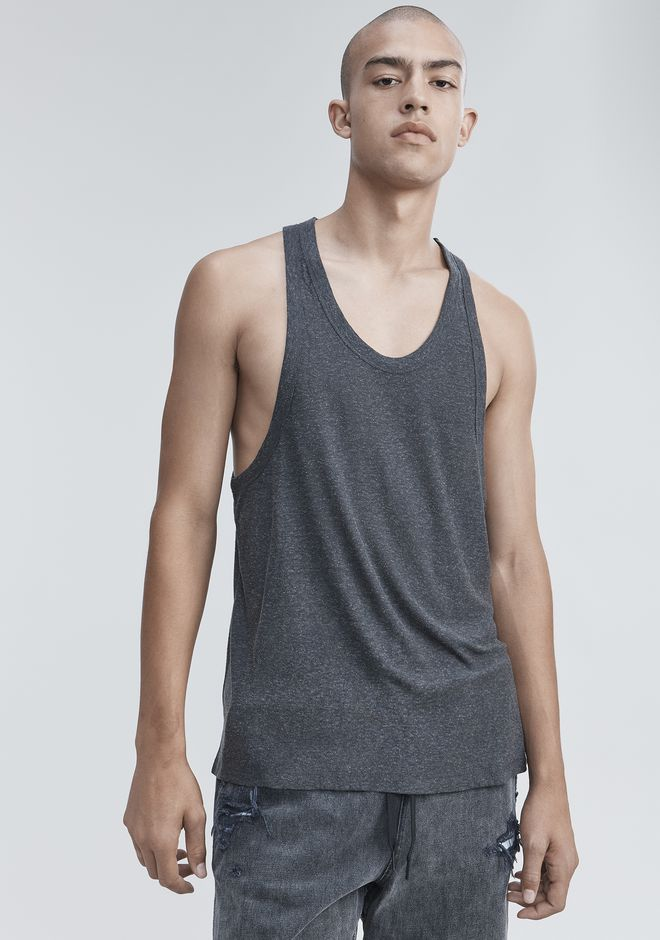 T by ALEXANDER WANG SLUB RAYON TANK  TOP Adult 12_n_r