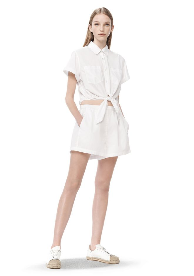 T by ALEXANDER WANG COTTON POPLIN ROMPER Short Dress Adult 12_n_f ...