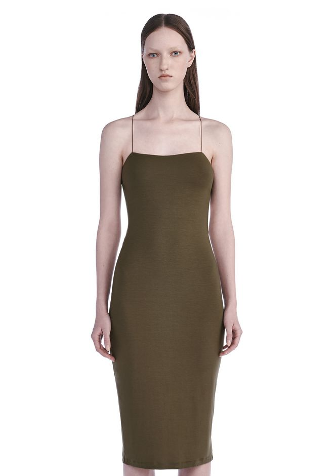 ... T by ALEXANDER WANG CUT OUT MODAL CAMI DRESS 3/4 length dress Adult  12_n_e ...