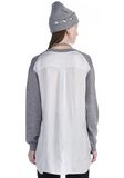 T by ALEXANDER WANG MERINO KNIT PULLOVER WITH VISCOSE COMBO  TOP Adult 8_n_d