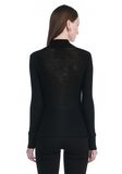 T by ALEXANDER WANG SHEER WOOLY RIB LONG SLEEVE TURTLENECK  TOP Adult 8_n_d