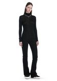 T by ALEXANDER WANG SHEER WOOLY RIB LONG SLEEVE TURTLENECK  TOP Adult 8_n_f