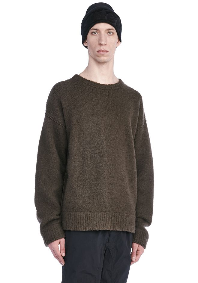 Alexander Wang BOILED WOOL SWEATER TOP | Official Site
