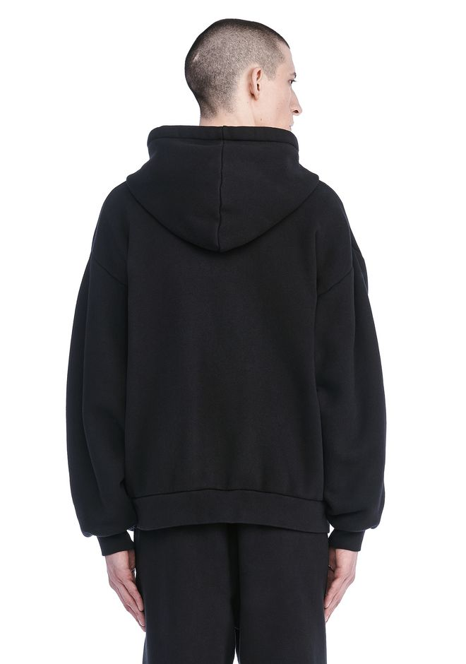 T by ALEXANDER WANG LONG SLEEVE ZIPPERED HOODED SWEATSHIRT 탑 Adult 12_n_d