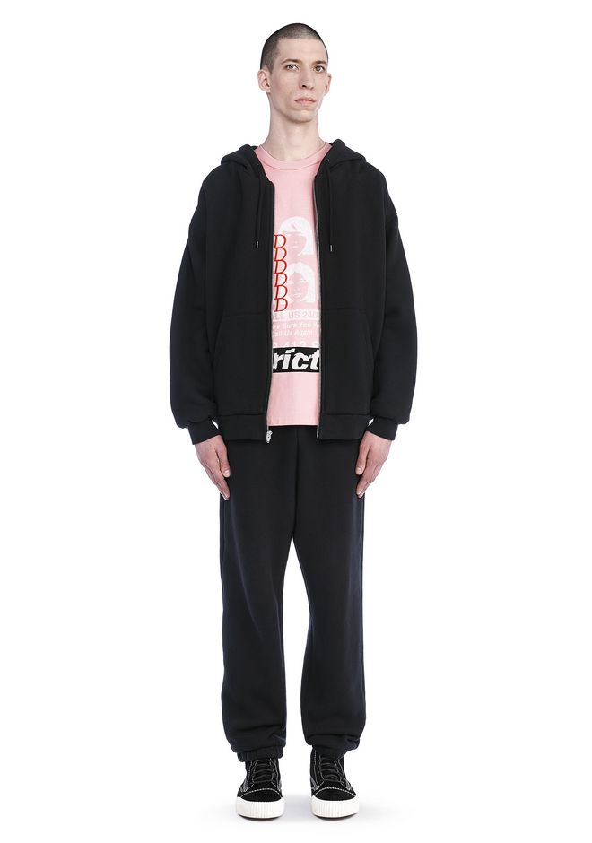 T by ALEXANDER WANG LONG SLEEVE ZIPPERED HOODED SWEATSHIRT 탑 Adult 12_n_f