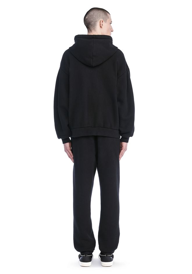 T by ALEXANDER WANG LONG SLEEVE ZIPPERED HOODED SWEATSHIRT 탑 Adult 12_n_r