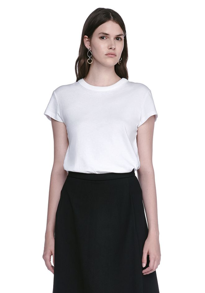T by ALEXANDER WANG t-shirts CAP SLEEVE FITTED BODYSUIT