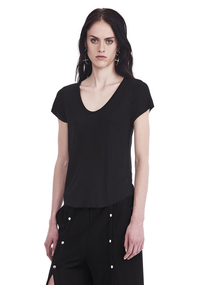 T by ALEXANDER WANG V-NECK CAP SLEEVE TEE 上衣 Adult 12_n_a