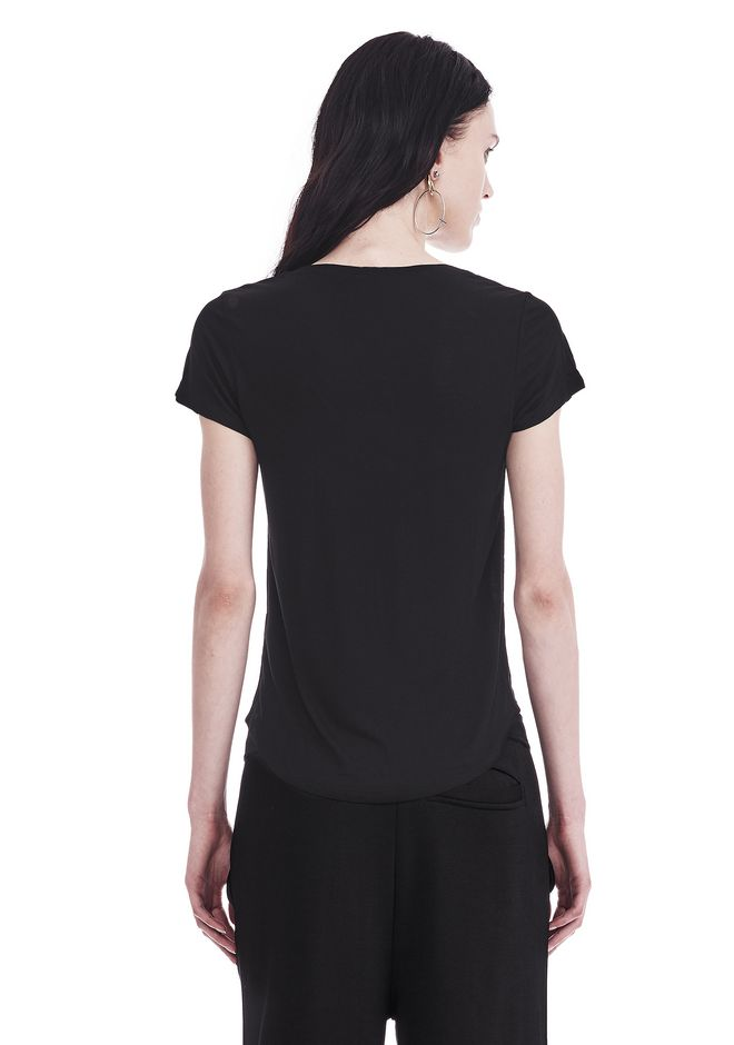 T by ALEXANDER WANG V-NECK CAP SLEEVE TEE 上衣 Adult 12_n_d