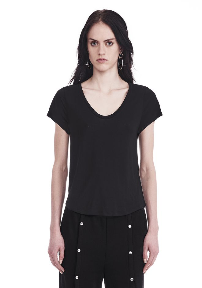 T by ALEXANDER WANG V-NECK CAP SLEEVE TEE 上衣 Adult 12_n_e