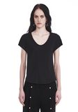 T by ALEXANDER WANG V-NECK CAP SLEEVE TEE 上衣 Adult 8_n_e
