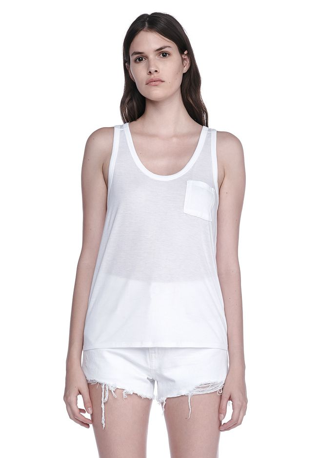 T by ALEXANDER WANG sltbtp CLASSIC RAYON ECOSIL JERSEY TANK