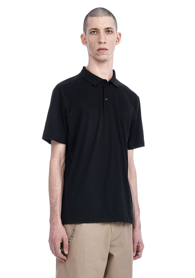 T by ALEXANDER WANG SHORT SLEEVE POLO TEE TOP Adult 12_n_a