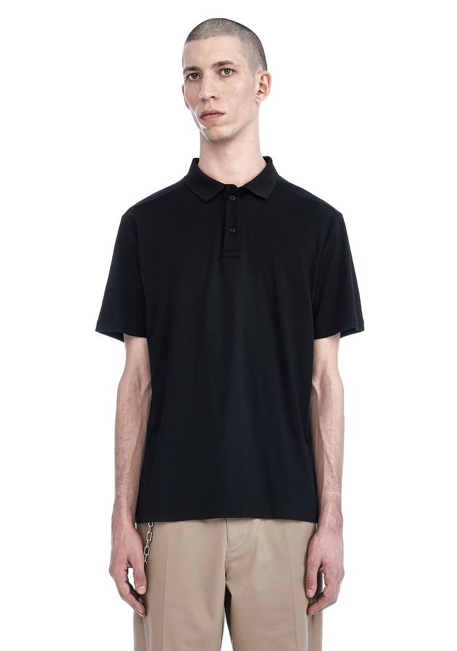 T by ALEXANDER WANG SHORT SLEEVE POLO TEE TOP Adult 12_n_e