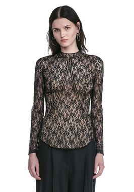 FLORAL LACE FITTED TOP
