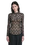 ALEXANDER WANG FLORAL LACE FITTED TOP TOP Adult 8_n_e