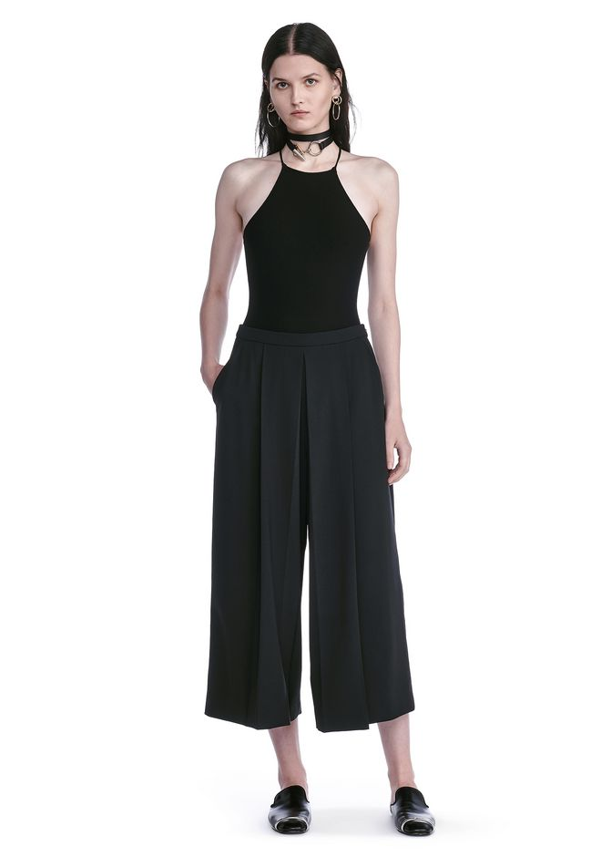 ALEXANDER WANG HALTER TOP WITH BACK SLIT LACING TOP Adult 12_n_f