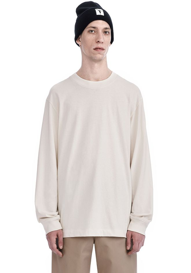 T by ALEXANDER WANG Long sleeve t-shirts HIGH TWIST MOCK NECK LONG SLEEVE