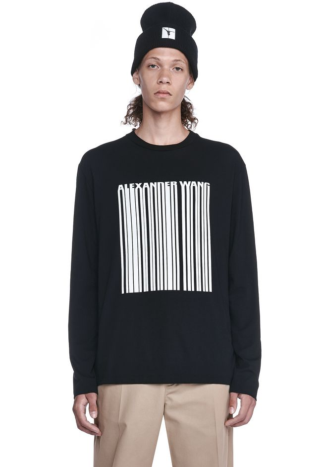 ALEXANDER WANG TOPS Für-ihn BARCODE LONG SLEEVE-SHIRT