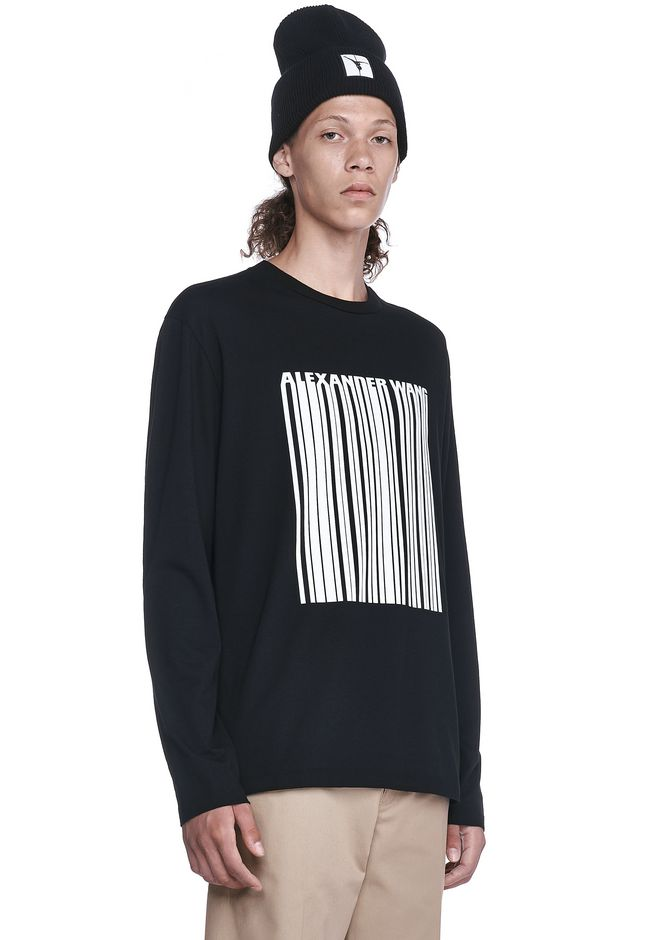 ALEXANDER WANG BARCODE LONG SLEEVE-SHIRT 上衣 Adult 12_n_a