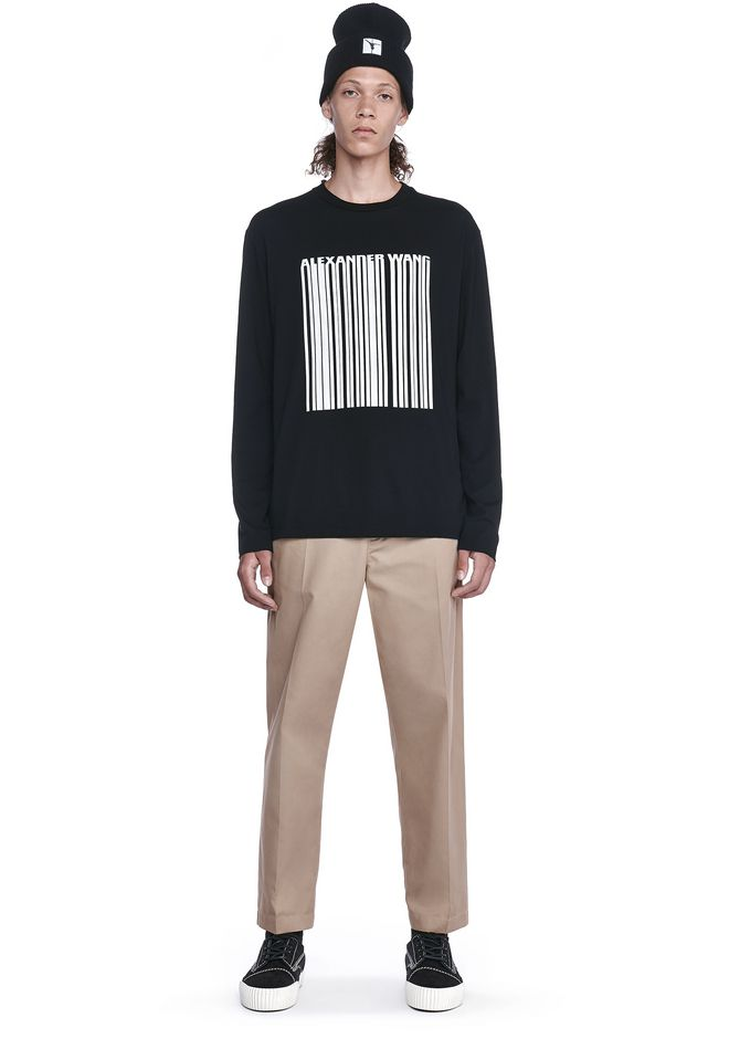 ALEXANDER WANG BARCODE LONG SLEEVE-SHIRT 上衣 Adult 12_n_f