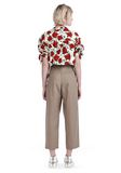 ALEXANDER WANG CROPPED ROSE PRINT BLOUSE WITH TIED SLEEVES TOP Adult 8_n_r