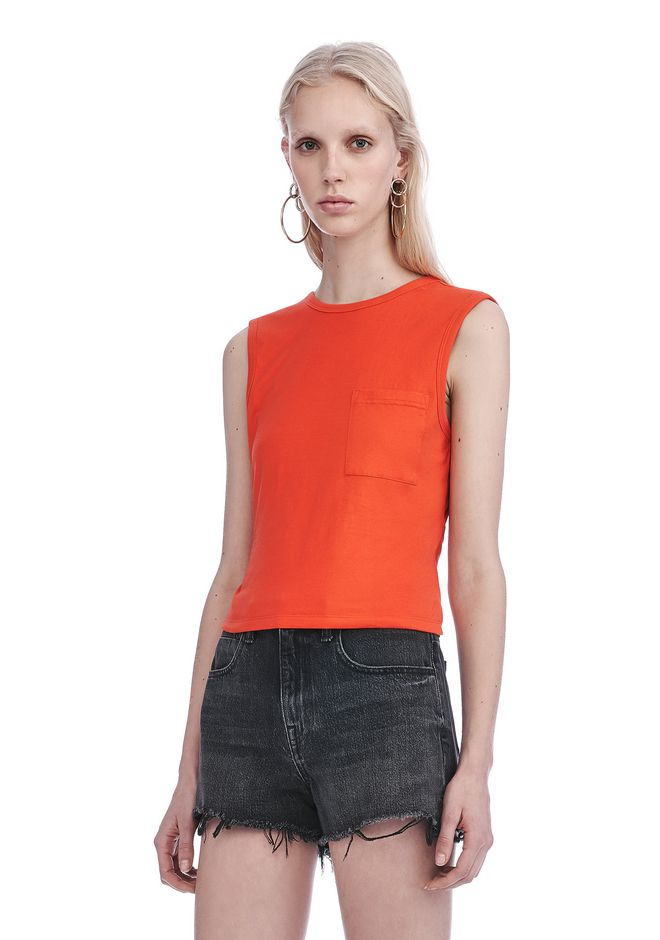 Alexander Wang ‎OPEN BACK TWIST TANK TOP ‎ ‎TOP