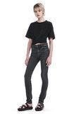 T by ALEXANDER WANG FRONT TWIST SHORT SLEEVE TEE TOP Adult 8_n_f