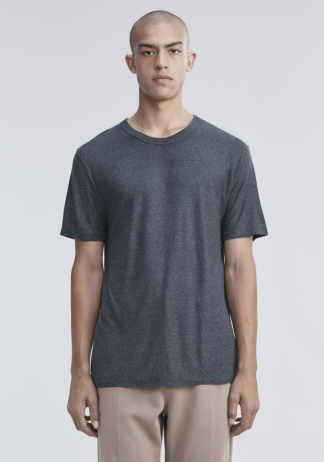 T by ALEXANDER WANG Short sleeve t-shirts Men SLUB RAYON SILK CREWNECKTEE