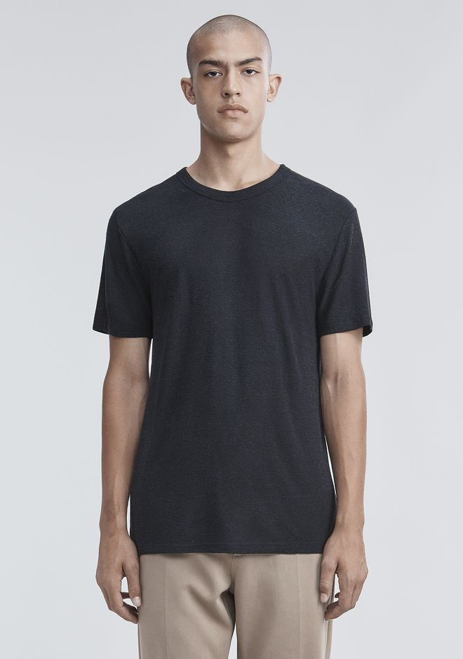 T by ALEXANDER WANG mens-new-apparel SLUB RAYON SILK CREWNECKTEE