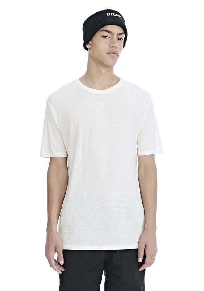 T by ALEXANDER WANG ready-to-wear-sale SLUB RAYON SILK CREWNECKTEE