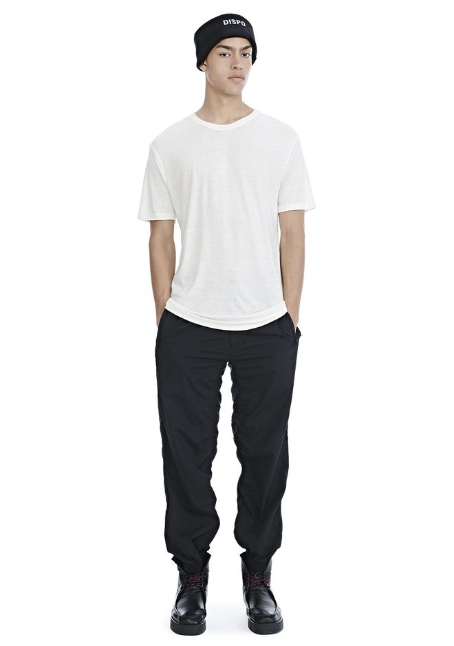 T by ALEXANDER WANG SLUB RAYON SILK CREWNECKTEE Short sleeve t-shirt Adult 12_n_f
