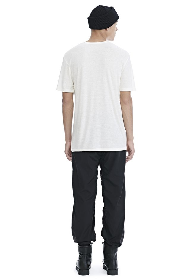 T by ALEXANDER WANG SLUB RAYON SILK CREWNECKTEE Short sleeve t-shirt Adult 12_n_r