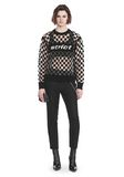 ALEXANDER WANG CHECKERBOARD BURNOUT PULLOVER WITH INTARSIA STRICT GRAPHIC SWEATSHIRT Adult 8_n_f