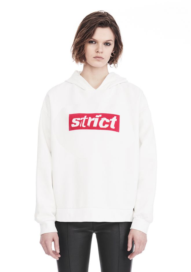 ALEXANDER WANG slrtwswt OVERSIZED HOODIE WITH STRICT PATCH