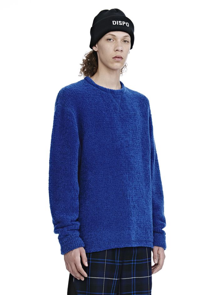 ALEXANDER WANG FLEECE CREWNECK PULLOVER SWEATSHIRT Adult 12_n_a