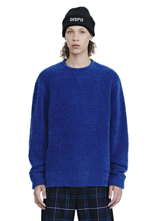 ALEXANDER WANG FLEECE CREWNECK PULLOVER SWEATSHIRT Adult 12_n_e