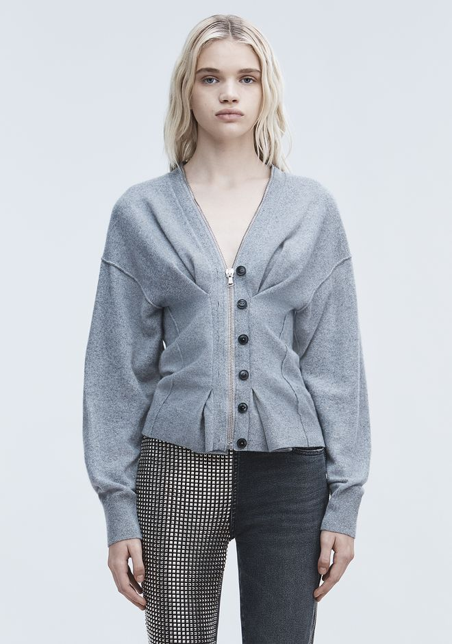ALEXANDER WANG knitwear-ready-to-wear-woman CINCHED ZIP CARDIGAN