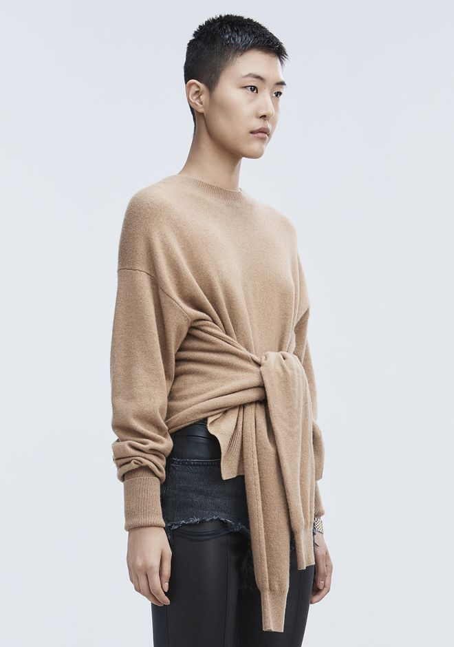 ALEXANDER WANG HYBRID KNIT PULLOVER TOP Adult 12_n_a