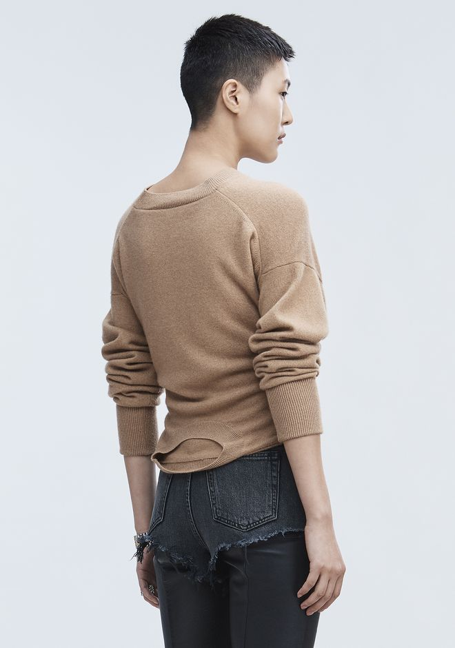 ALEXANDER WANG HYBRID KNIT PULLOVER TOP Adult 12_n_d
