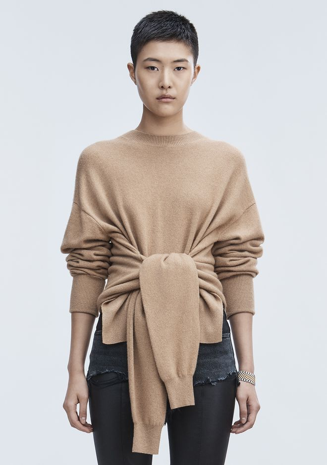 ALEXANDER WANG HYBRID KNIT PULLOVER TOP Adult 12_n_e