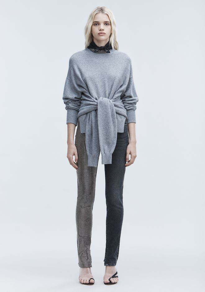 ALEXANDER WANG HYBRID KNIT PULLOVER TOP Adult 12_n_f