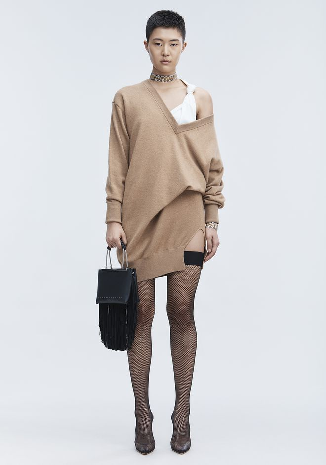 ALEXANDER WANG Short Dresses Women OVERSIZED KNIT TUNIC