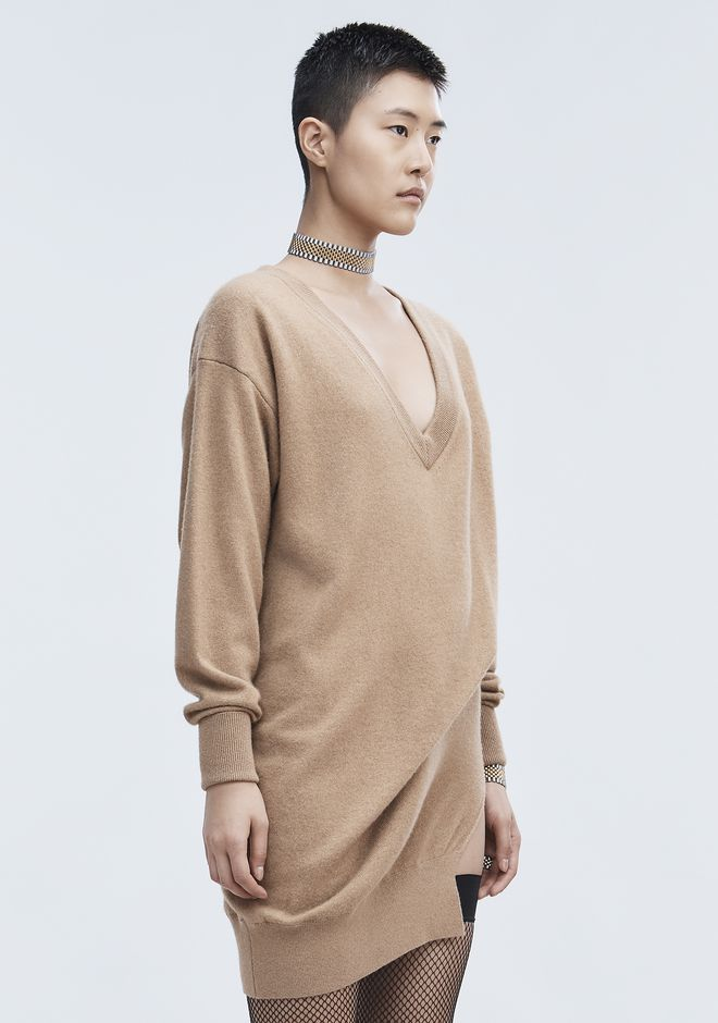 ALEXANDER WANG OVERSIZED KNIT TUNIC Short Dress Adult 12_n_d