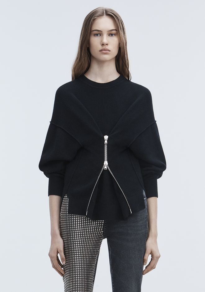 ALEXANDER WANG knitwear-ready-to-wear-woman ZIPPER CINCHED PULLOVER