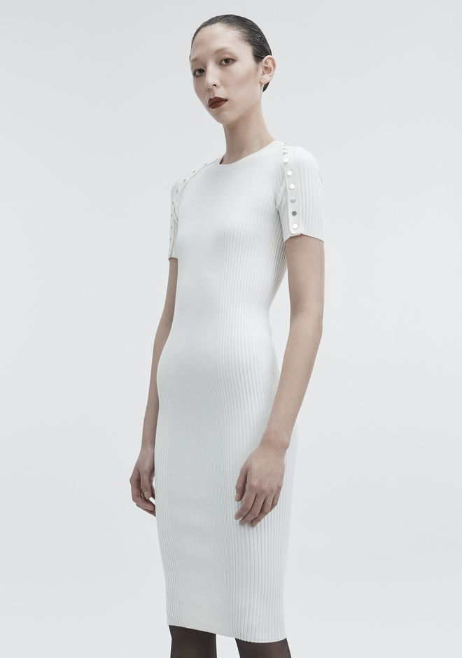 ALEXANDER WANG SNAP MIDI DRESS 针织连衣裙 Adult 12_n_d