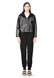 T by ALEXANDER WANG LIGHTWEIGHT LEATHER HOODED JACKET Jacket Adult 8_n_f