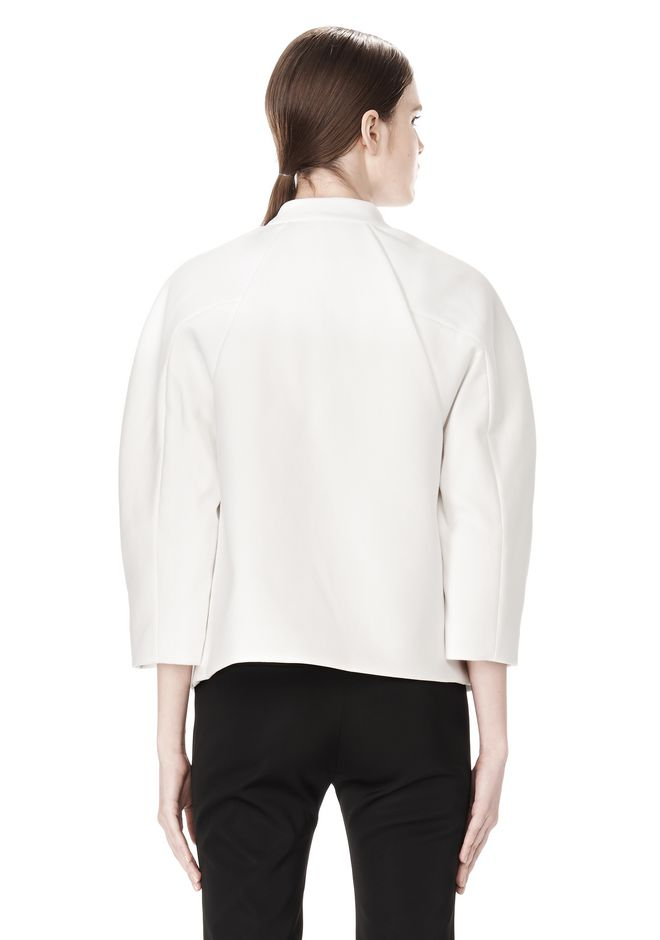 ALEXANDER WANG EXCLUSIVE CROPPED PEACOAT WITH SUSPENDED BACK JACKETS AND OUTERWEAR  Adult 12_n_d